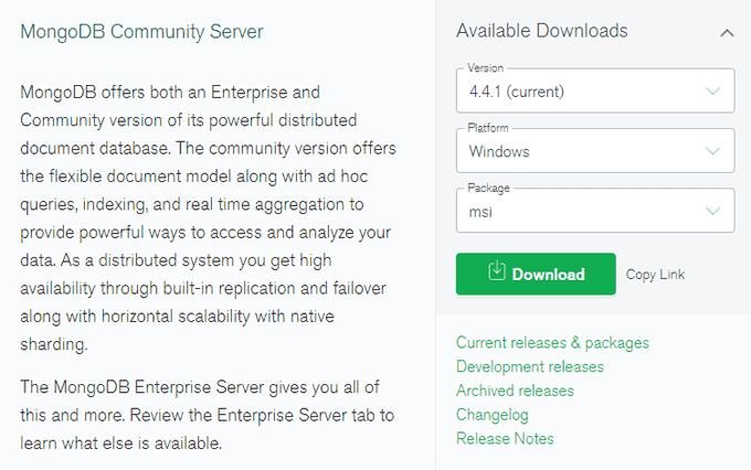 MongoDB Community Server Download