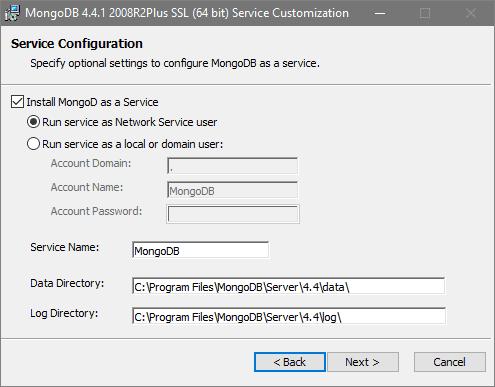 Setup MongoDB as a Windows service