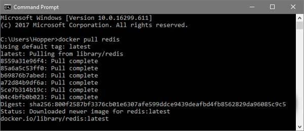 Pull the Redis Docker Image